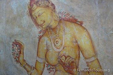 Places to see in Sri Lanka Sigiriya Wall Paintings